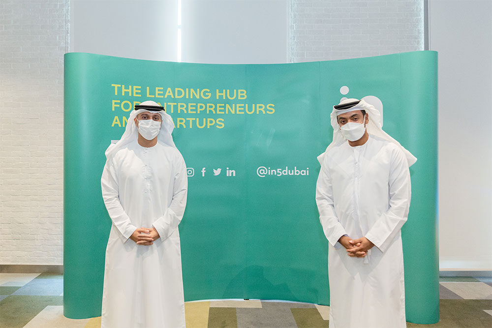 Minister of State for Entrepreneurship and SMEs H.E. Dr Ahmad Belhoul Al Falasi Meets Senior Representatives, Angel Investors, Startups at in5 in Dubai
